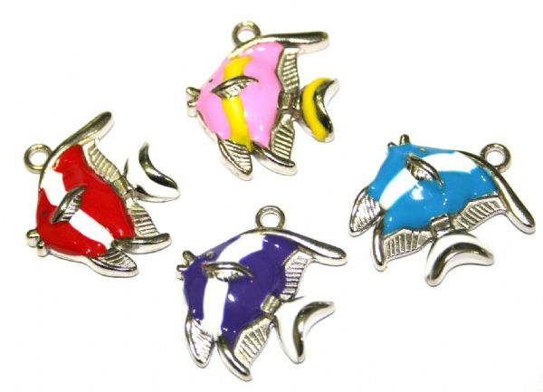 Fish enamel charms